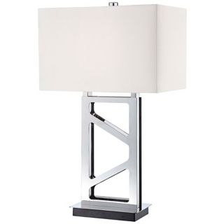 George Kovacs Polished Nickel Open Base Table Lamp   #R7502