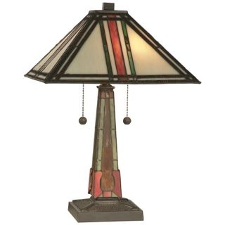 Dale Tiffany Multi Color Mission Table Lamp   #X2860