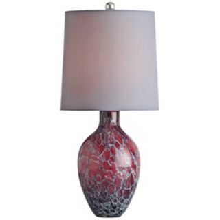 Arteriors Home Ty Orchid Crackle Finish Glass Table Lamp   #V5080