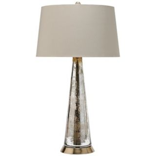 Arteriors Home Antiqued Silver Tapered Glass Table Lamp   #27351