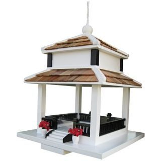 Backyard Bird Cottage White Bird Feeder   #T3228