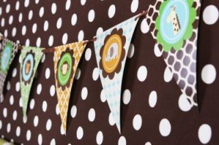 Jungle Safari Theme Baby Shower Birthday Mod Party Kit Decorations