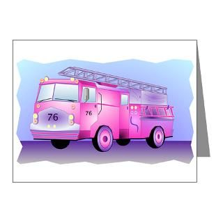 Gifts  Baby Note Cards  Pink Fire Truck Note Cards (Pk of 10