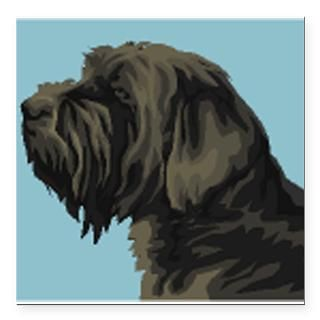 Wirehaired Pointing Griffon Square Car Magnet 3