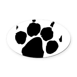 Wild Paw print Oval Car Magnet