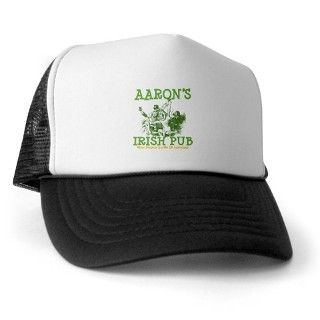 Aarons Vintage Irish Pub Personalized Trucker Hat by bestnametees