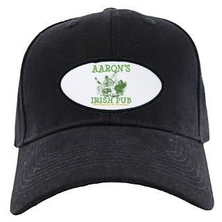 Aarons Vintage Irish Pub Personalized Baseball Hat by bestnametees