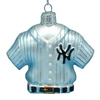 Kurt Adler Glass Yankees Jersey Ornament, 3.25