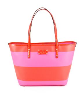 Kate Spade Small Harmony Boutique Stripe Vivid Snapdragon Maraschino