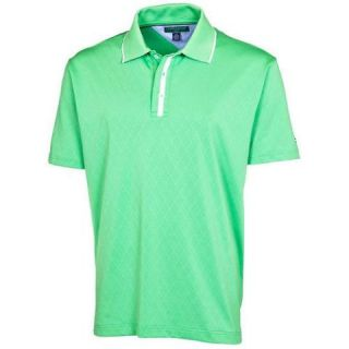 New Tommy Hilfiger Golf Mens Lisbon Solid Polo Shirt   Shamrock or
