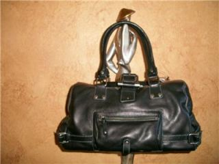 sigrid olsen brown leather bag tote purse handbag