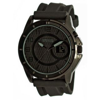 Kenneth Cole Reaction Straps Black Dial Polyurethane Band Mens Watches