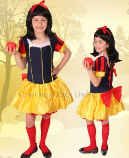 Kids Children Disney Snow White Girls Costume 8 10 12