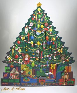 Byers Choice Wood Christmas Tree Advent Calendar