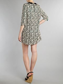 Vero Moda 3/4 sleeve lace mini dress White