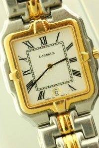 Elegant Mens Seiko LaSalle Two Tone Dress Wrist Watch