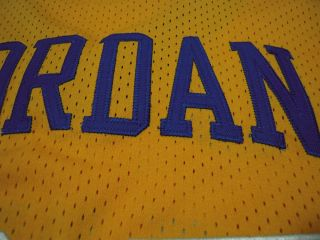 New Michael Jordan Laney High School Yellow Basketball Jersey