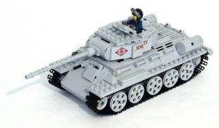 Lego WWII Russian T 34 85 Medium Tank Military Model Set Cutom