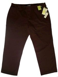 NWT sz 24W P~28 inseam~INSTANTLY SLIMS YOU~BROWN STRETCHY COTTON LEE