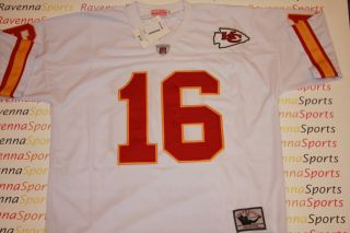 Len Dawson Autographed Kansas City Chiefs White Throwback Jersey SB