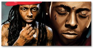 Lil Wayne Hip Hop Original Signed Canvas Art Painting
