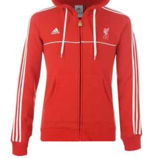Adidas Liverpool Co LFC Hoody Red White Mens Size M