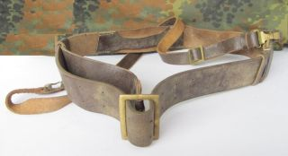 WWII Original German Officers Leather Belt for Luger