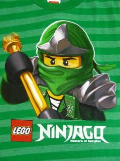 Lego Ninjago Green Ninja Lloyd Green Stripes s s T Shirt Boys Sz 7
