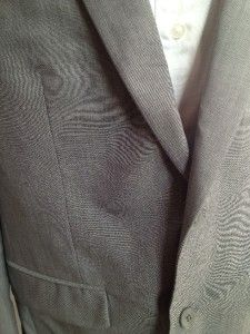 MENS LIGHT GRAY  BAR III SLIM FIT SUIT