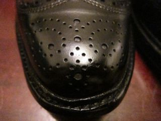Allen Edmonds MacNeil Black Polish Calf Skin Wingtip Oxford Shoes Sz 7