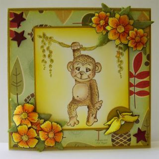 Magnolia Banana Peel Rubber Stamp Pet Animal Collection 2009 PA09