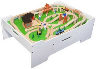 Multi Activity Wooden Play Table Makes a Great Train Table