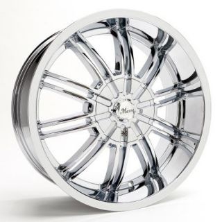 20x8 5 Et 35 Chrome Massa 44 Wheels Rims 5 Lug Front Wheel Drive Cars