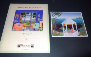 Final Set of Thomas McKnight Promo 8x10 Promo Art Gallery Cards from