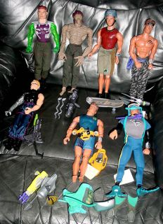 Huge Lot of 12 Max Steel Figures and 10 Accessory Packs