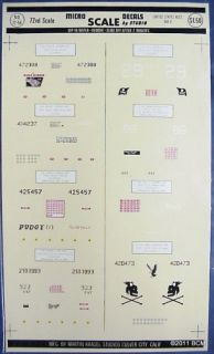 United States Aces WWII 1 72 Micro Scale Decals 72 56