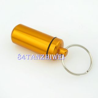 Colors Aluminum Pill Box Case Bottle Holder Container Keychain Best