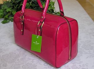 Kate Spade Flicker Melinda Satchel Bag Purse Berry PXRU3089 $348