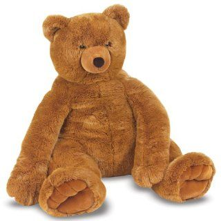 New Melissa Doug Plush Jumbo Brown Teddy Bear Giant Large Soft Stuffed