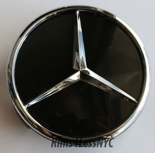 Mercedes Benz Black Wheel Center Caps SL550 SL55 SL63