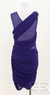 BCBG Max Azria Runway Purple Jersey Mesh Dress Size L