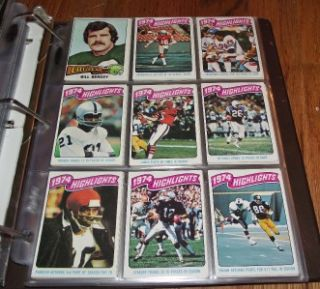 1975 Topps Football Complete Set Cards 1 528 in Binder Lynn Swann