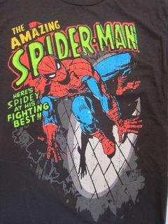 Mens T Shirt Spiderman Marvel Comics s M L XL Adult Tee Shirt Super