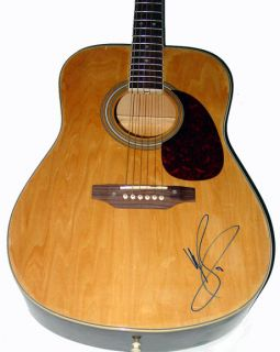 Michael Buble Autograph Signed Acoustic Guitar Exact Video Proof UACC