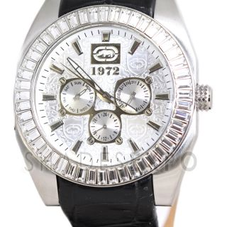 New Marc Ecko Watches E19501G1 Black The Shadow Silver