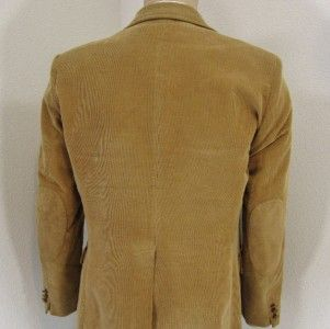 38 R Mervyns Vintage Brown Corduroy Leather Elbow Mens Patches Jacket