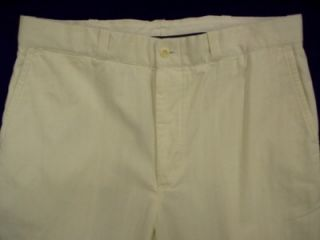 Polo Ralph Lauren Mens Tweed Dress Pants White 36 R