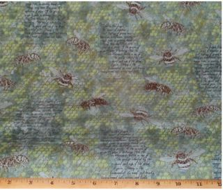Bees Honeycomb Big Beautiful Bugs Fabric yds Quilting Cotton Andover