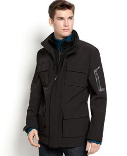 Calvin Klein Jacket, Soft Shell Water Resistant Coat   Mens Coats