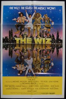 The Wiz 78 Michael Jackson Diana Ross Original Movie Poster Oz